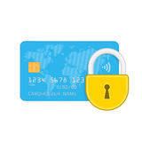 Credit card and lock. Stock Images