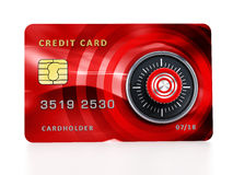 Credit card with lock Royalty Free Stock Images