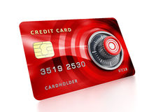Credit card with lock Stock Photo