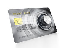 Credit card with lock Royalty Free Stock Image