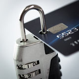 Credit card and lock Royalty Free Stock Image