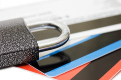 Credit card and lock - security concept Stock Images