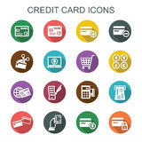 Credit card long shadow icons Stock Photo