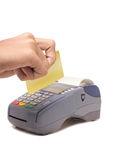 Credit card machine Stock Images