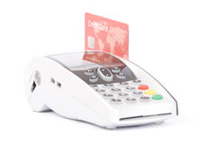 Credit card machine Royalty Free Stock Images