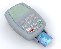 Credit card machine Stock Photos