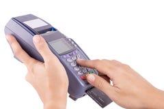 Credit card machine Stock Image