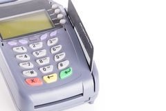 Credit card machine isolated on white Royalty Free Stock Image