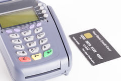Credit card machine isolated on white Stock Image