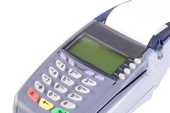 Credit card machine isolated on white Stock Images