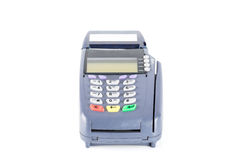 Credit card machine isolated on white background Royalty Free Stock Photos