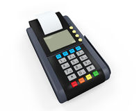Credit Card Machine Isolated Royalty Free Stock Photography