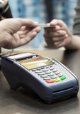 Credit Card Machine on the Table Stock Images