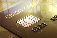 Credit card macro Royalty Free Stock Photo