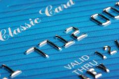 Credit card macro Royalty Free Stock Photos