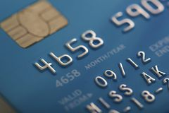 Credit card macro background Stock Photos