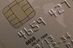 Credit card macro background Stock Image