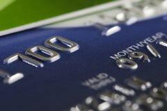 Credit card macro shot Stock Image