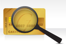 Credit card magnifier Royalty Free Stock Photography