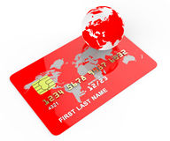 Credit Card Means Commerce Planet And Banking Stock Images