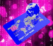 Credit Card Means World Globalise And Globally Royalty Free Stock Photo