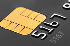 Credit card micro chip Stock Photo