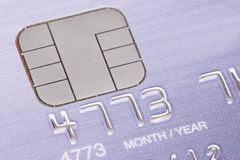 Credit card with micro chip Stock Photo