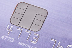 Credit card with micro chip Royalty Free Stock Photo