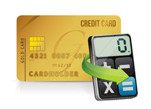 Credit card and modern calculator Stock Image