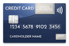 Credit card modern prime example 3d render Stock Images