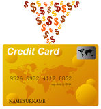 Credit card money. All expenses and bills paid by credit card Stock Photography