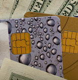 Credit card and money Royalty Free Stock Photo