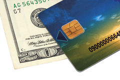 Credit card and money Royalty Free Stock Photography