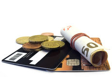 Credit card and money Royalty Free Stock Images