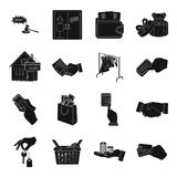 Credit, card, money, bargain, calculator, auction, shop.E- commerce set collection icons in black style vector symbol Royalty Free Stock Image
