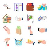 Credit, card, money, bargain, calculator, auction, shop.E- commerce set collection icons in cartoon style vector symbol Royalty Free Stock Images