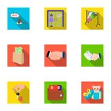 Credit, card, money, bargain, calculator, auction, shop.E- commerce set collection icons in flat style vector symbol Royalty Free Stock Images