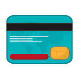 Credit card money business icon. Isolated  illustration Stock Images