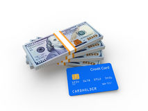 Credit card and money Stock Photography
