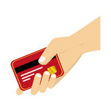 Credit card money icon Stock Photography