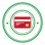 Credit card money icon Stock Images