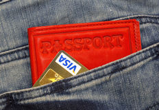 Credit card and money Stock Images