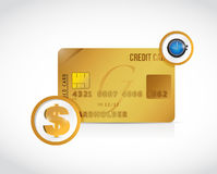 Credit card money and time concept illustration Stock Photography