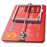 Credit card mouse trap Royalty Free Stock Image