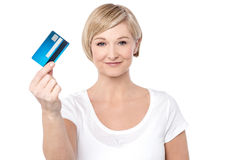 Credit card, my shopping partner. Stock Photography