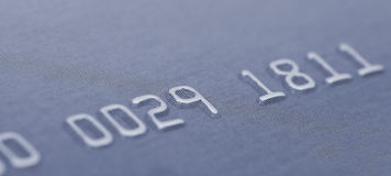 Credit card numbers Royalty Free Stock Photography