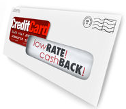 Credit Card Offer Letter Envelope Solicitation Low Rate Cash Bac Stock Photos