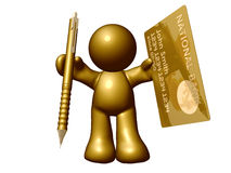 Credit card online application. Sign up here Stock Images