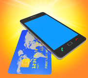 Credit Card Online Means World Wide Web And Banking Royalty Free Stock Photo