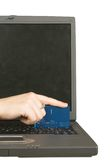 Credit card online payment Stock Image